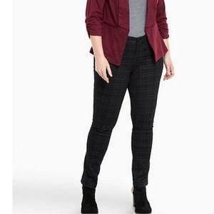 TORRID denim 22 Tall plaid soft skinny jeans